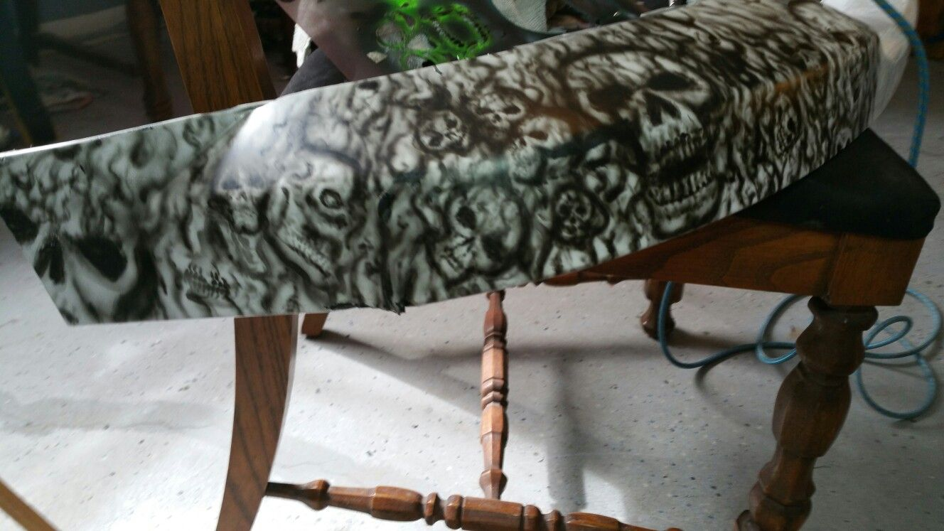 Airbrushed bumper cover