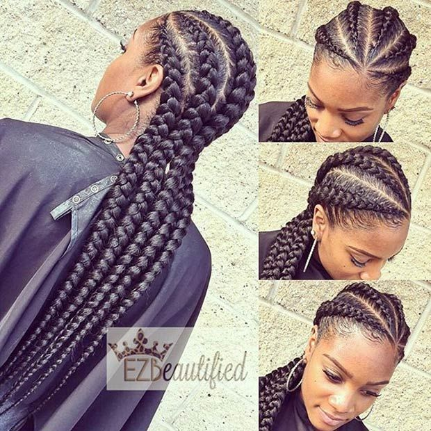 Long And Big Cornrows Style