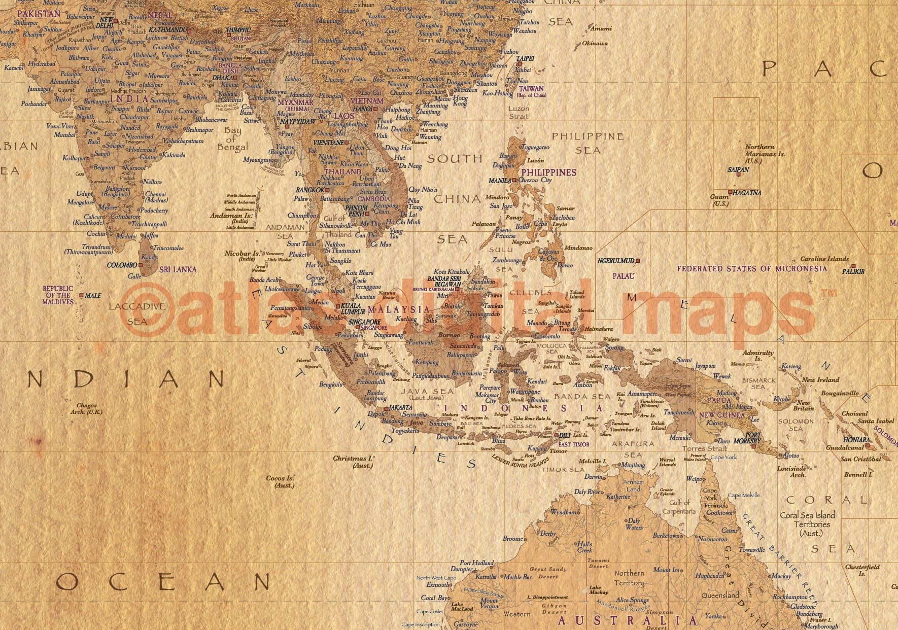 World map canvas map of the world world map print physical sale world map canvas map of the world world map print physical political world map golden tan rolledlarge gumiabroncs Gallery