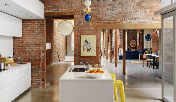 Pinterest  aménagement cuisine ouverte îlot central Decoration