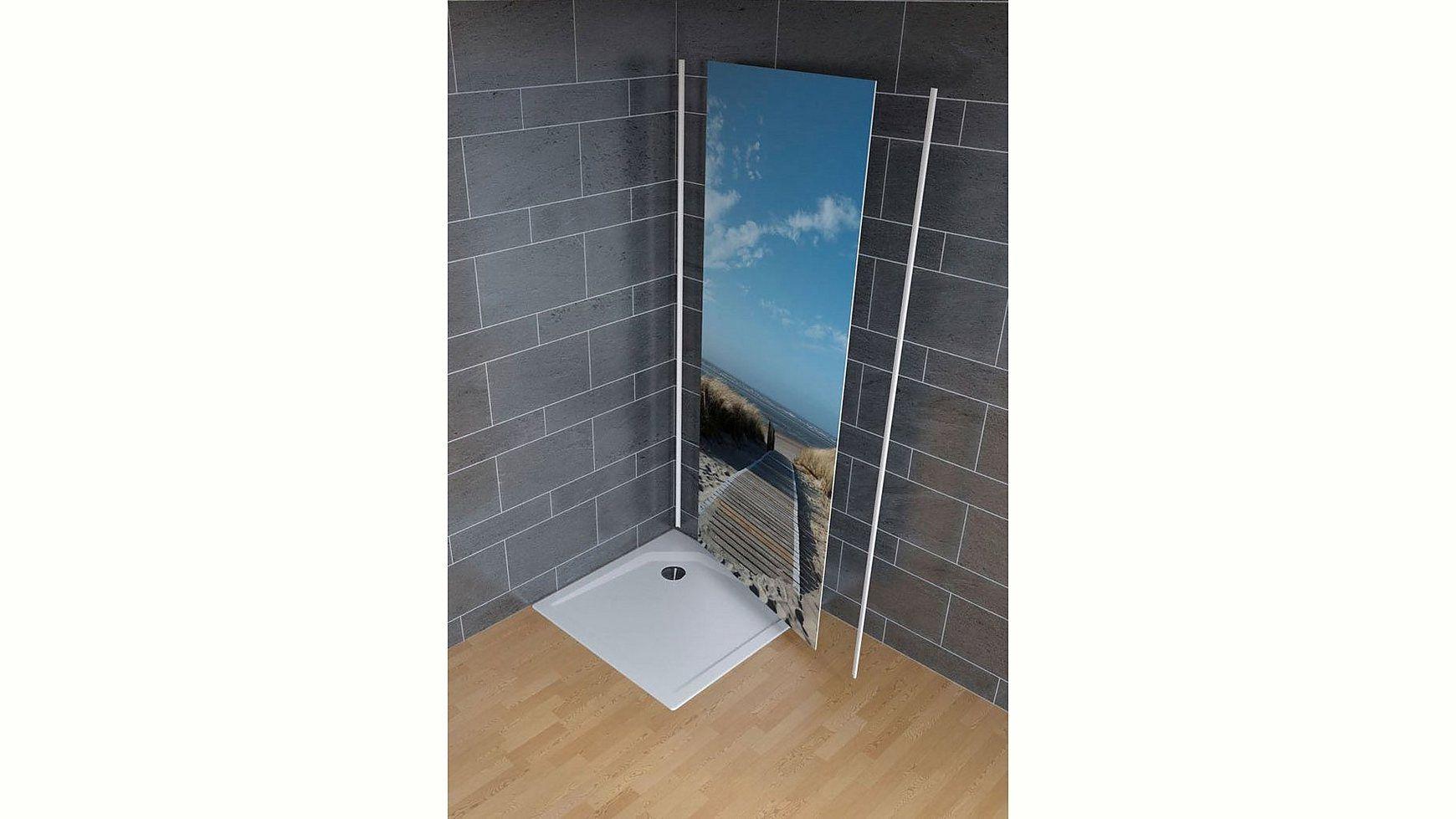Produktdetailsmaterialstarke 3 Mmanwendungsbereich Dusche Raume Badezimmer Oberflache Hochg Ottobaumarkt Schulte Schu In 2020 Duschruckwand Dusche Foto Blau