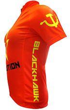 Blackhawk Communist-Style Cycling Jersey womens  $35.00