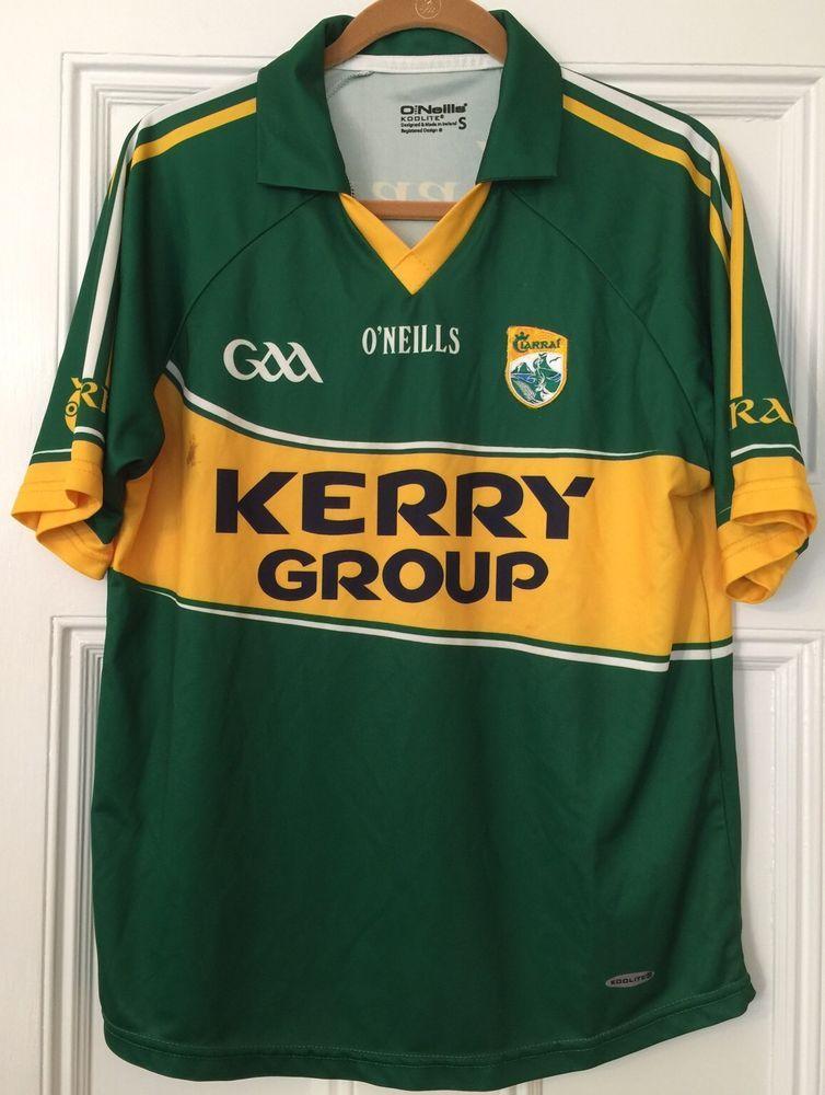 Ciarrai Kerry Group Gaa Gaelic Shirt O Neills Sz Small Green And Gold Good Cond Oneills Kerrygroup Soccer Fan Shirts Soccer Fans Shirts