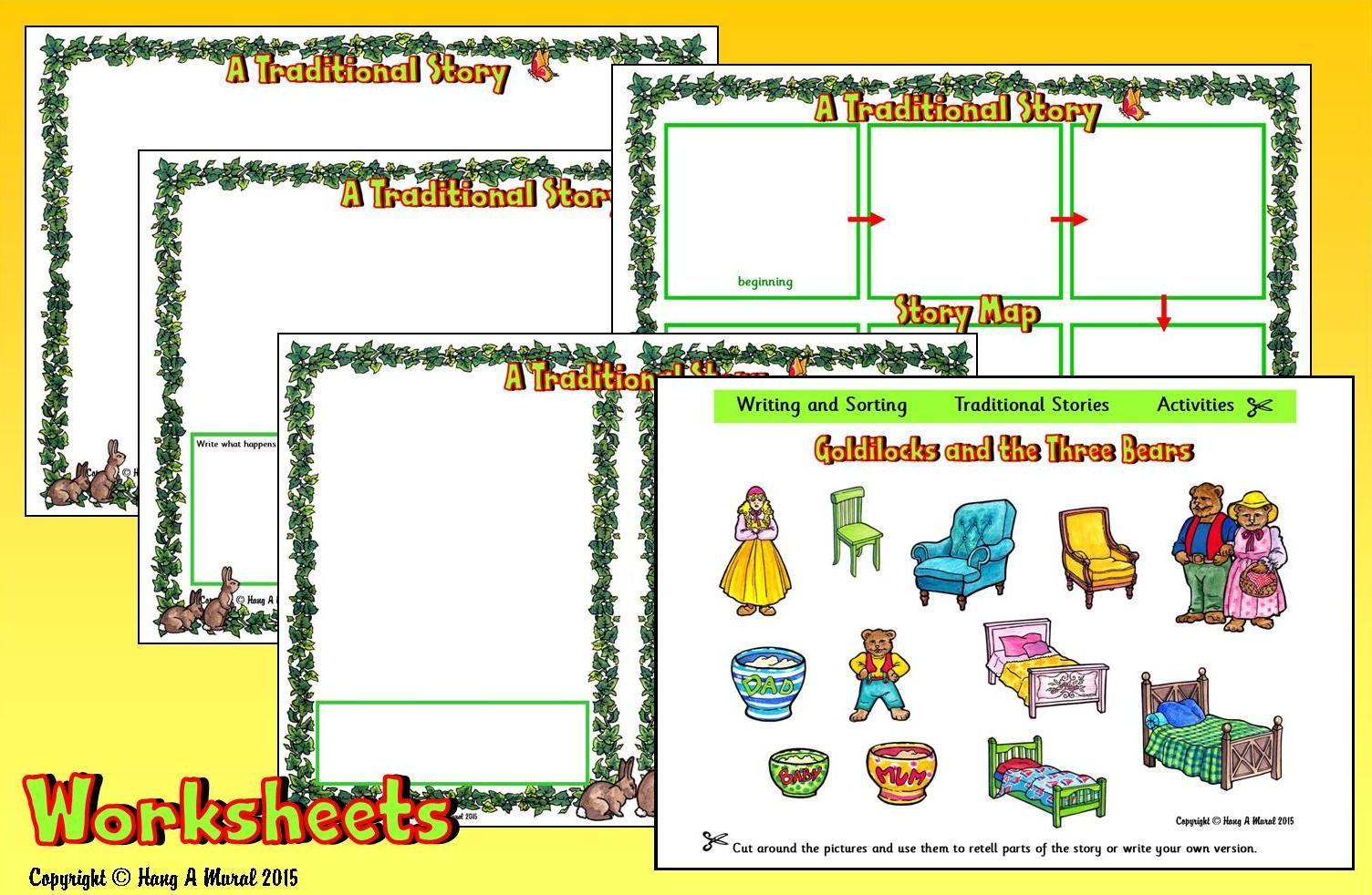 Goldilocks Amp The Three Bears Worksheets Free Download At Hang A Mural Cut Amp Paste