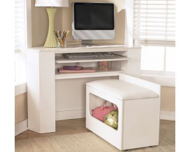 Loveee This Desk Especially Becuase The Bench Has Storage Space