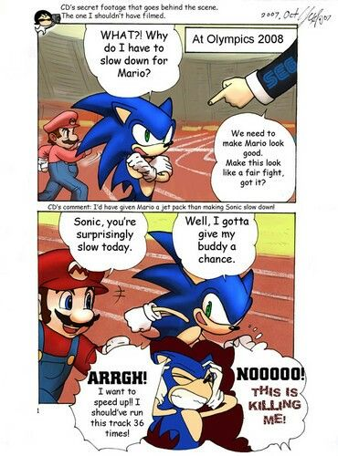 .I always wondered why sonic didn't pawn everyone in this game