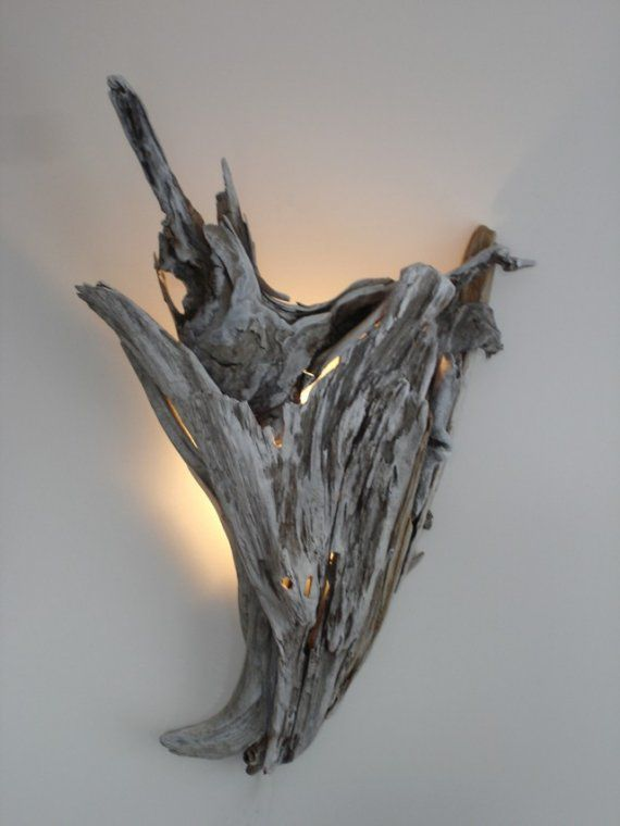 Driftwood Wall Sconce Lighting by woodswise on Etsy