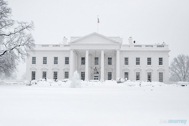 The White House dressed in white :)