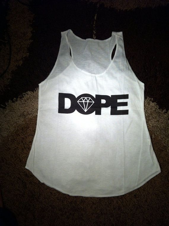 Dope tank tops vest tee onesize fits all for women by MEGAFashion, £4.99
