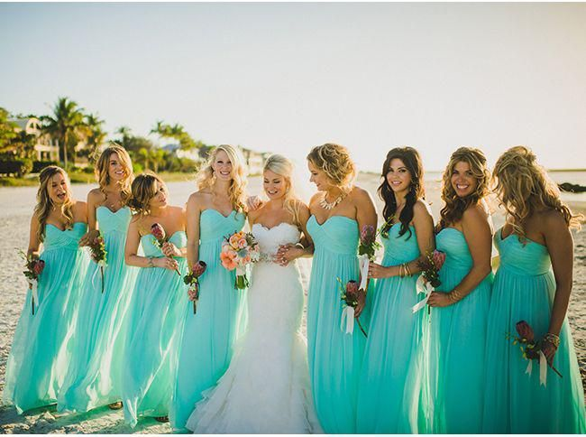 Long Elegant Sweetheart Ruched Teal Chiffon Beach Wedding ...