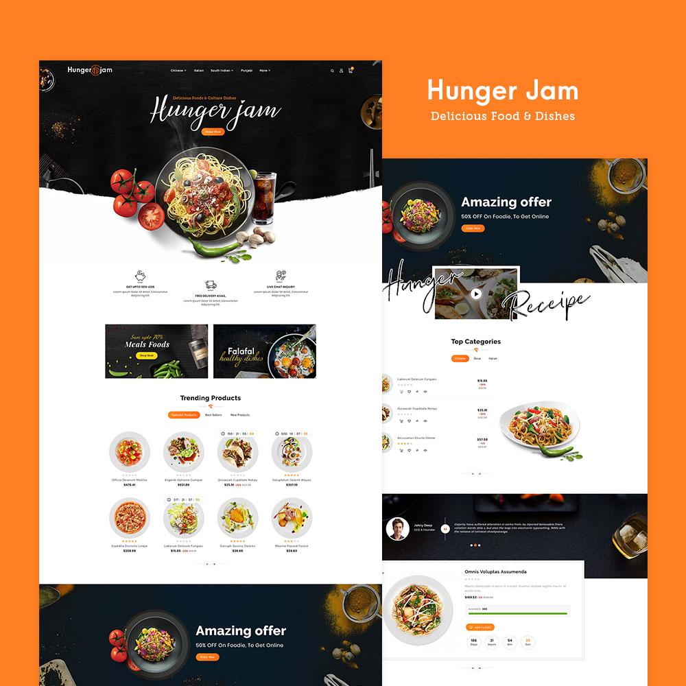 #Hunger Jam - #Food & #Dishes - #Prestashop #Responsive Theme | #TemplateTrip #Website #Design #Templates