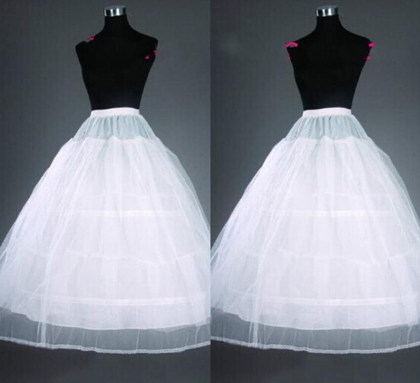Cheap Bridal Petticoats 2015 Long Women Skirt Wedding Skirts Crinoline Slip 2016 Average Size Prom Dresses Underskirt Petticoat Accessories