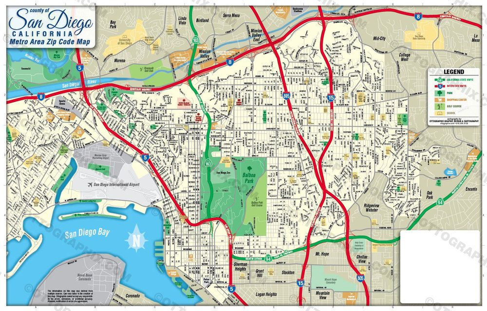 San Diego Metro Area Map California 597 00 Area Map