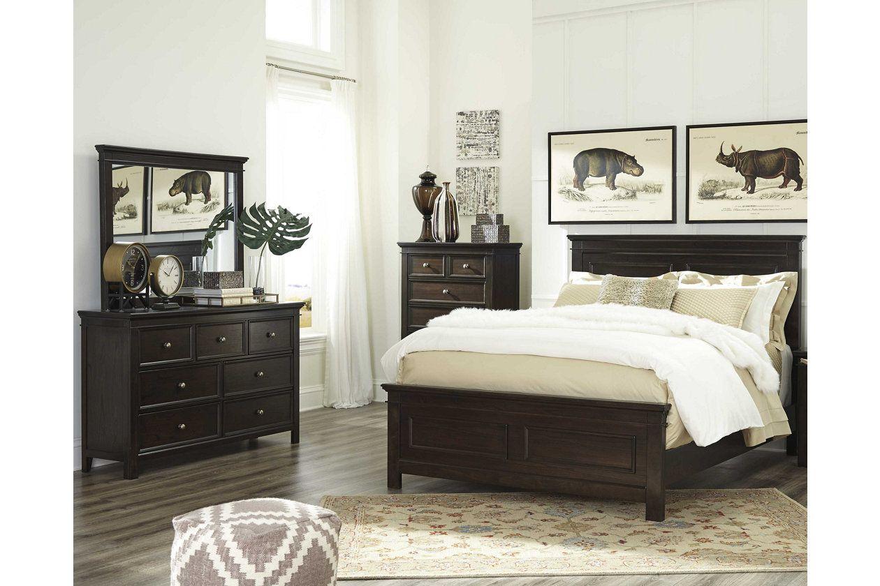 Alexee 5Piece King Bedroom, Dark Brown King bedroom
