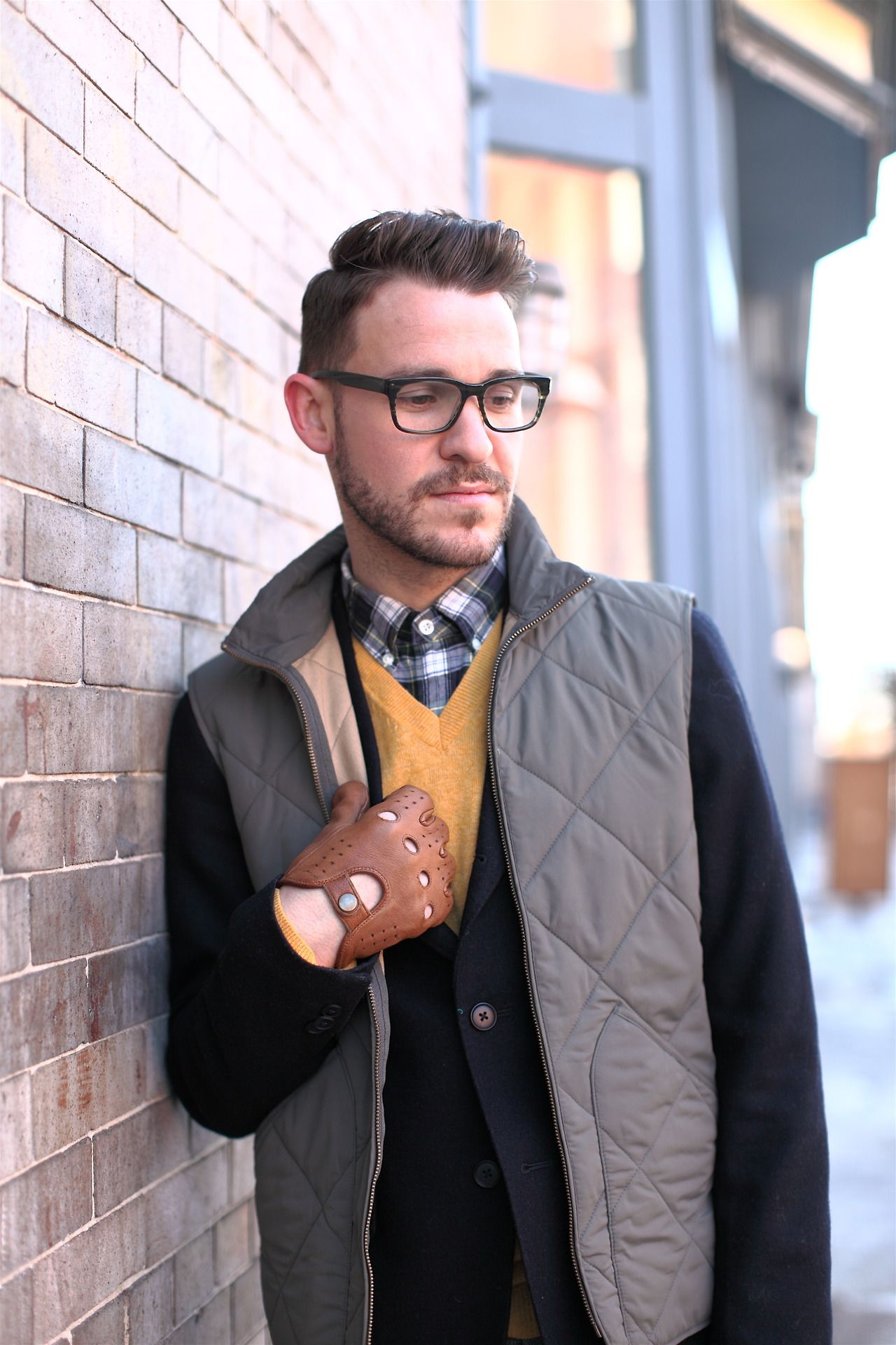 674c8b033db Dustin Tyler Moore of Closet Freaks wearing Warby Parker Beckett glasses in  Striped Evergreen