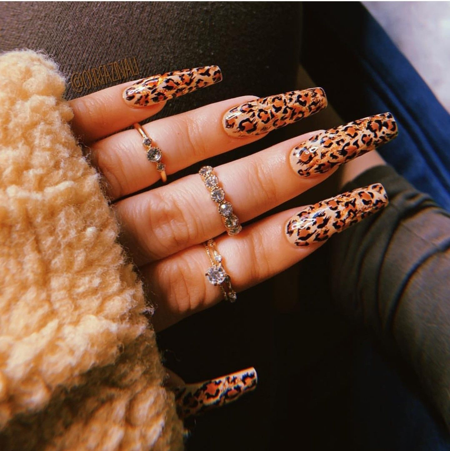 Leopard Print Nails Not My Work Follow Ariellanita For More Shiny Nails Designs Leopard Print Nails Leopard Nails