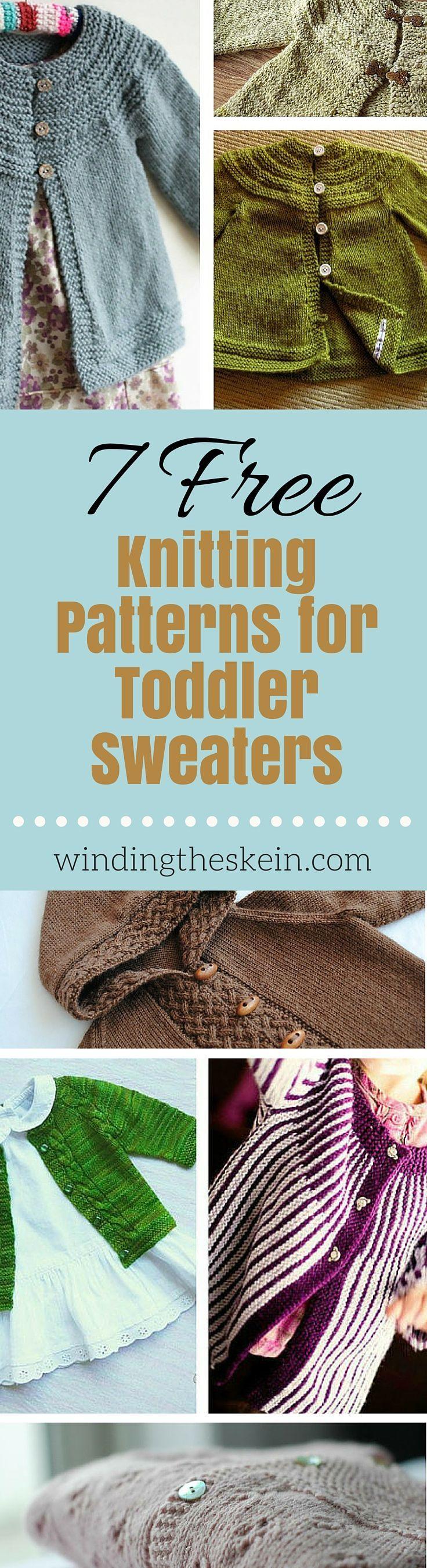 Free Toddler Sweater Knitting Patterns | Knitting sweaters, Knitting ...
