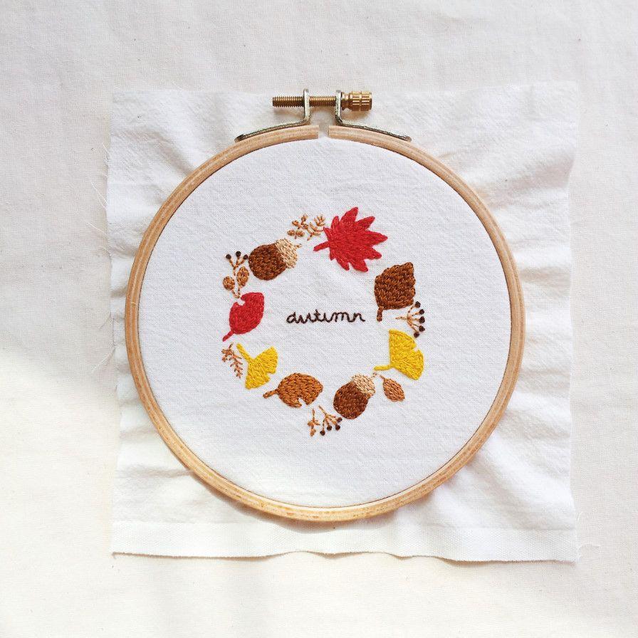 가을을 수놓아요 (Embroidered with the fall) by 달눈 on | Bordados ...