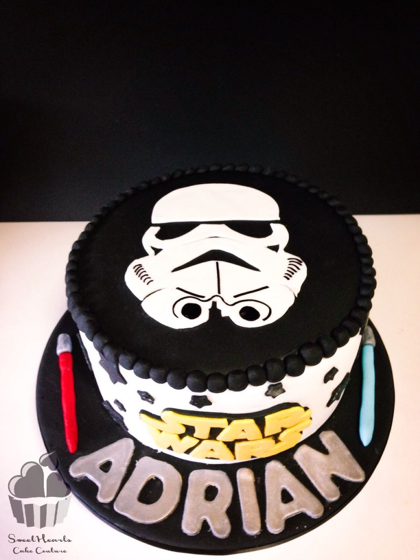Awesome Simple Stormtrooper Cake Star Wars Birthday Cake Star Wars Cake Personalised Birthday Cards Paralily Jamesorg