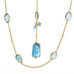 London Blue Topaz with Pendant Necklace