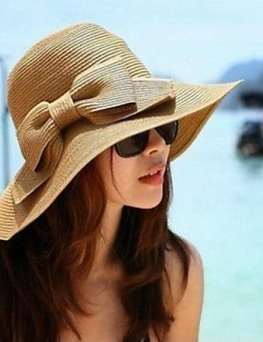 27422ed2990 Women s Vintage Hair Claw - Solid Color Classic Style   Straw Hat   Summer    Hat   Cap   Sun Hat