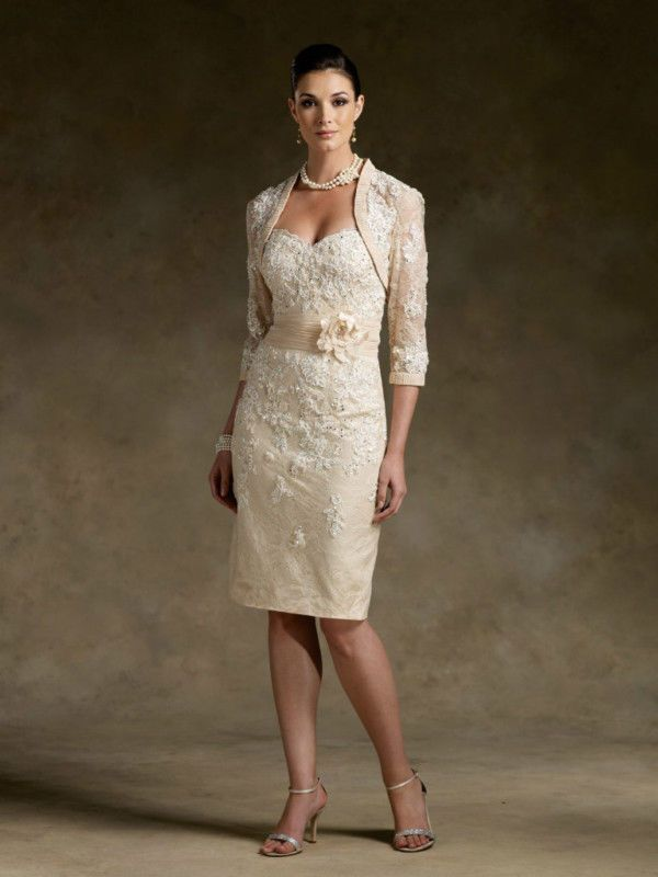 Gold Mother of the Bride Dresses with Jackets