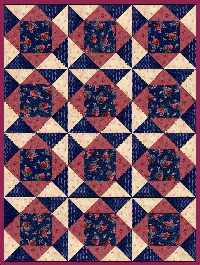 This Quilt Kit Is Easy To Sew And Has Some Really Stunning Fabrics