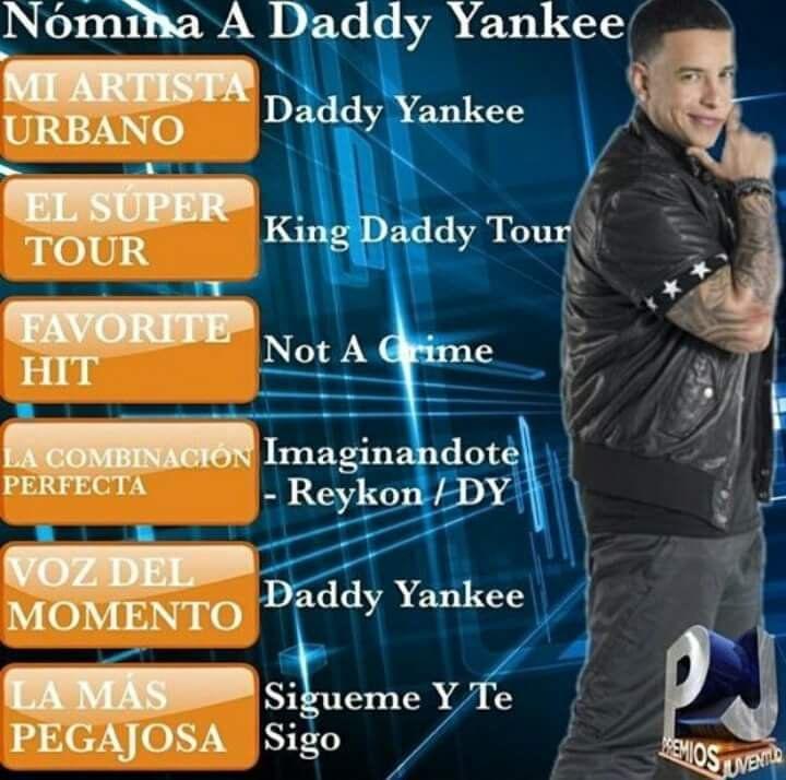 DYMFC_PaisVasco : Nomina @daddy_yankee en los Premios Juventud! #teamyankee…