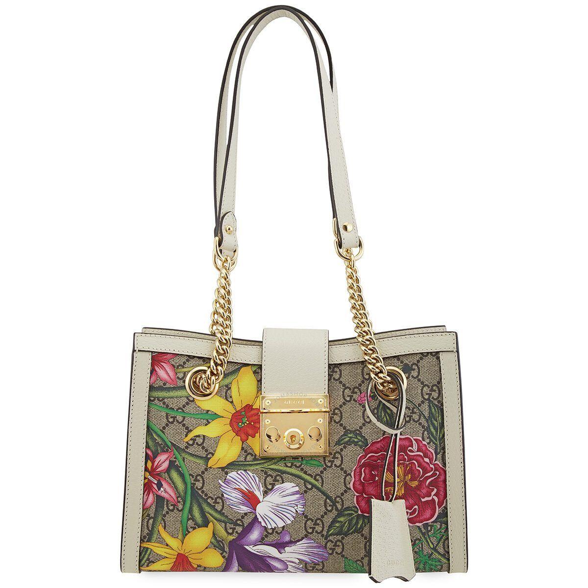 Original Gucci Ladies Padlock GG Flora Bolso de hombro  – Bolsa