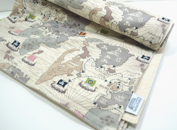 Hey i found this really awesome etsy listing at httpsetsy viking themed organic blanket with old world map and viking long boats this set is organic cotton on the top and organic flannel cotton gumiabroncs Images
