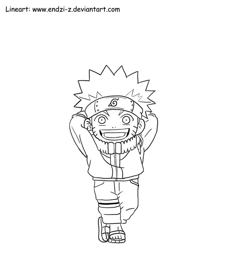 Naruto Chibi Coloring Pages