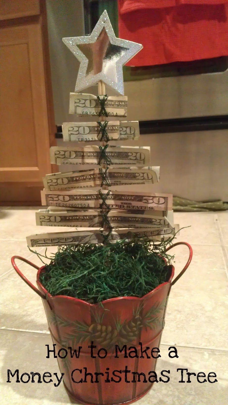 How To Make A Christmas Money Tree Christmas Money Christmas Gifts For Kids Diy Christmas Gifts