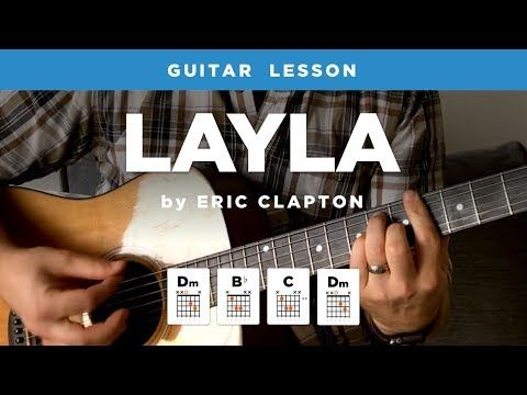 Layla Unplugged Guitar Lesson W Intro Tab Chords Eric Clapton