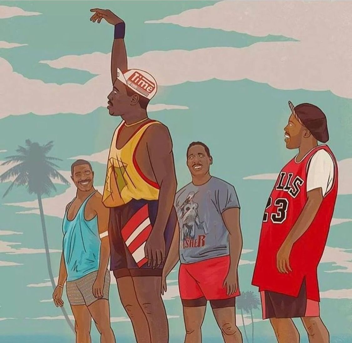 Classic movie. Great drawing! White men can't jump. About