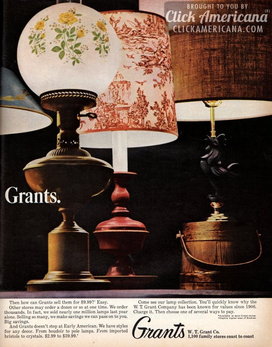 early american lamp styles from grants 1965 early american
