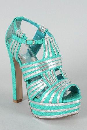 Turquoise Platform Sandal