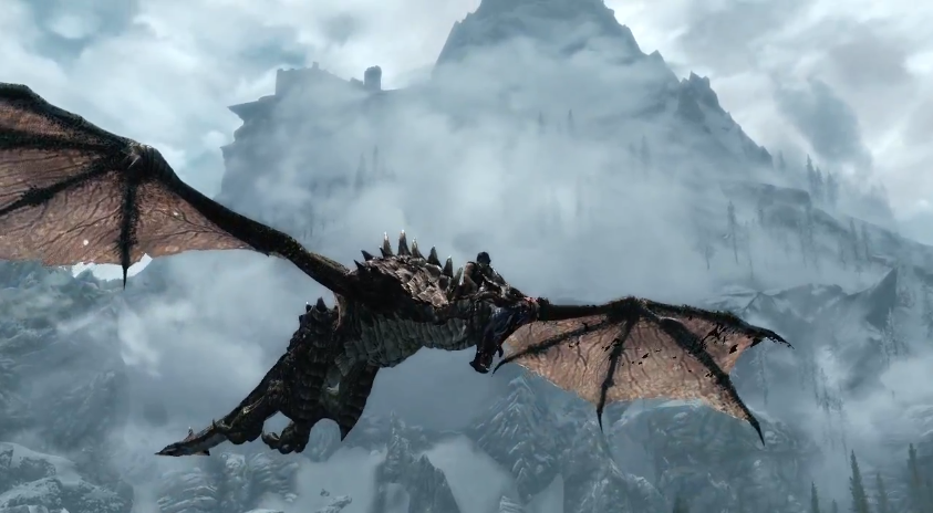 dragons flying skyrim google search fantasy pinterest skyrim