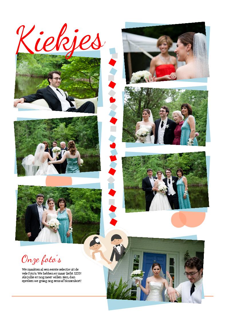selectie trouwfoto's voor de huwelijksbedanking - krant als leuk alternatief voor de traditionele trouwkaarten