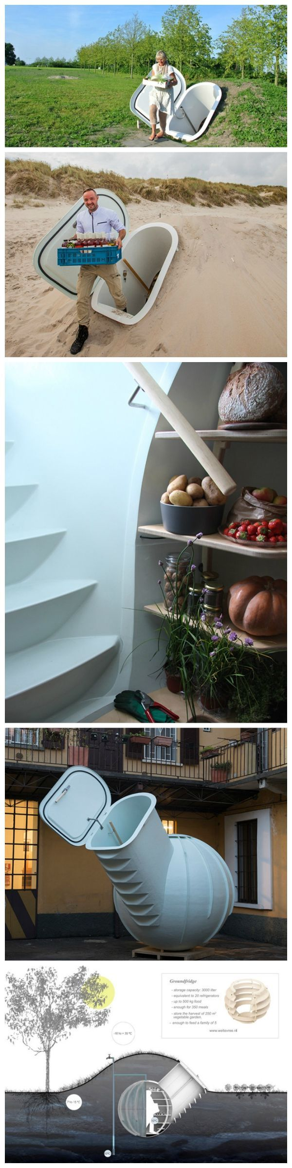 The Groundfridge: the best solution for off-grid food storage