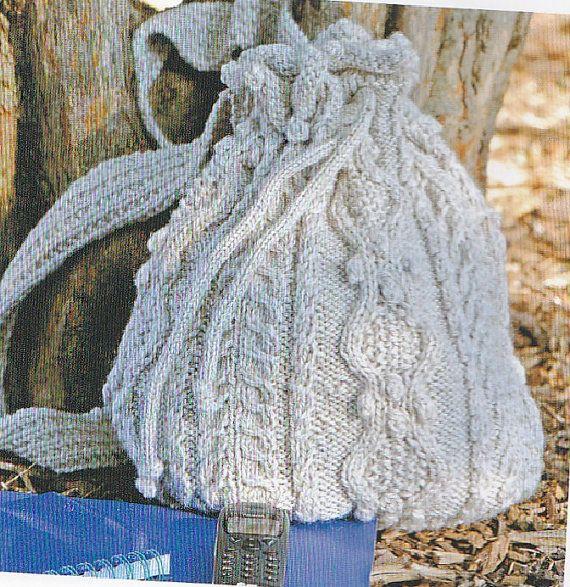 Aran Backpack or Purse-Knitting Pattern   Knitting ...