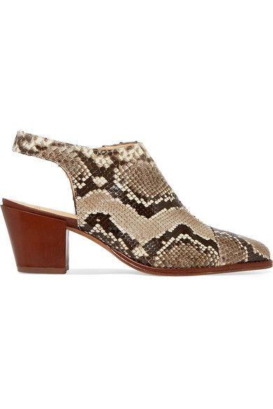 f63a0613536 ALEXANDRE BIRMAN Jaynes python slingback ankle boots.  alexandrebirman   shoes  pumps