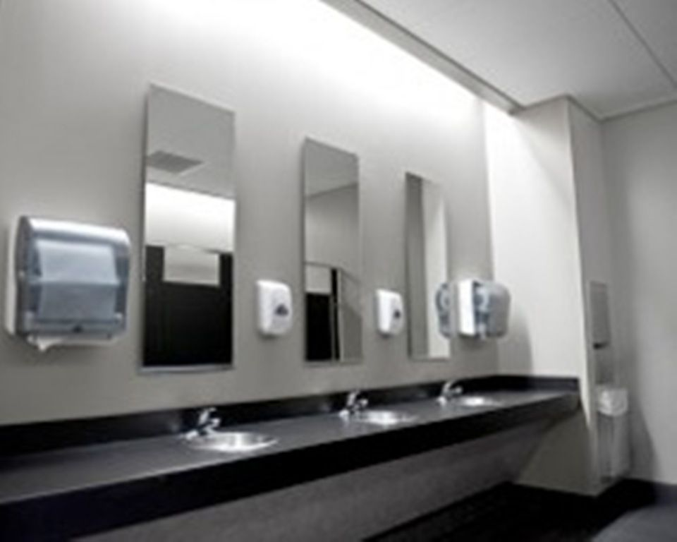 Elegant Office Restroom Interior 960 768 Pixels