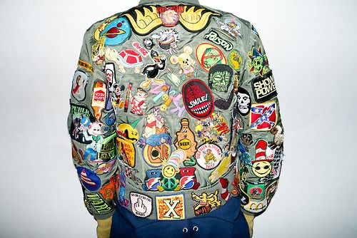 Patches allover Jeremy Scotts Awesome Jacket | Fashion