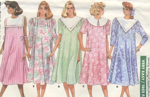 7289d12de Vintage 80s Misses Maternity Dress Sewing by SewingEtcetera, $4.95 ...