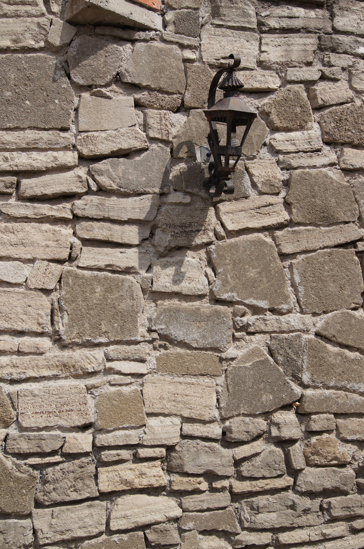 Muro de piedra en Tlaxcala, de las primeras ciudades coloniales.