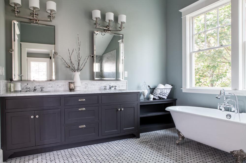 elegant master bath  traditional  bathroom  portland