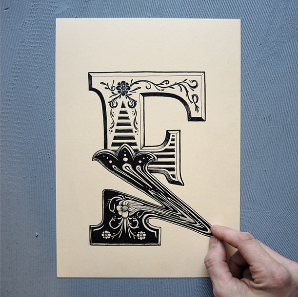 Distorted And D Illusion Typographic Illustrations By Rylsee