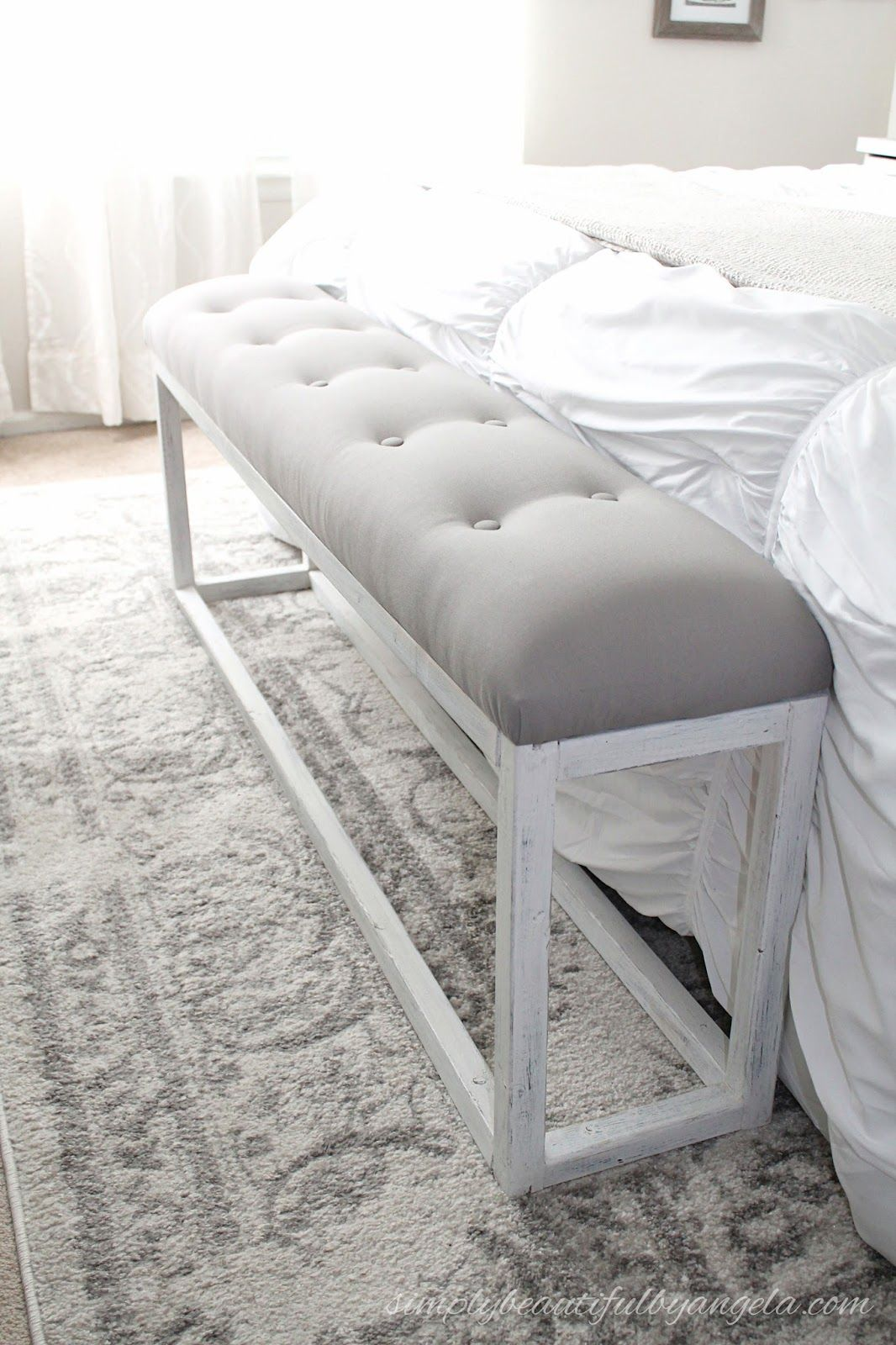 DIY Simple End of Bed Bench (With images) | End of bed ...