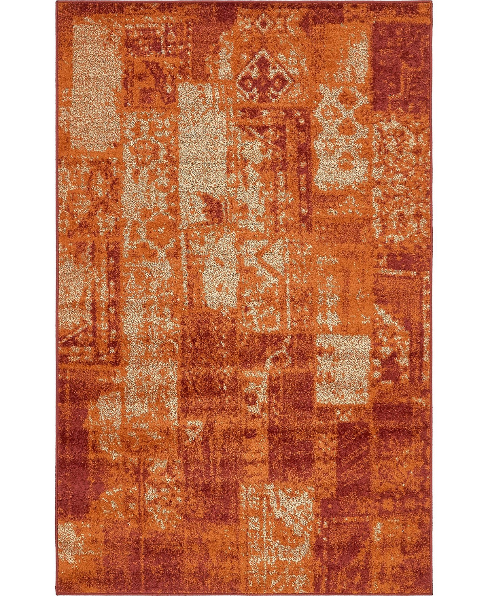 Bridgeport Home Jasia Jas07 Terracotta 5' x 8' Area Rug & Reviews - Rugs - Macy's