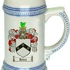 Ayers Coat of Arms / Family Crest stein mug